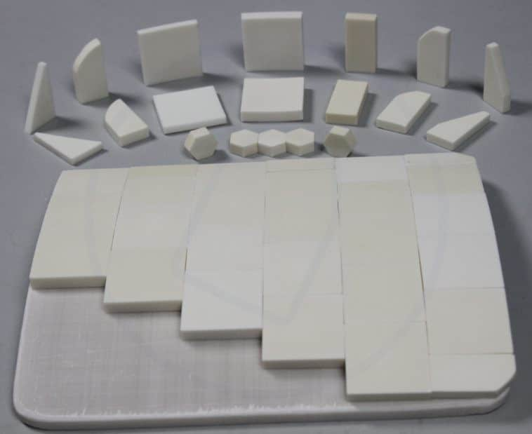 bulletproof ceramic tiles and base plate
