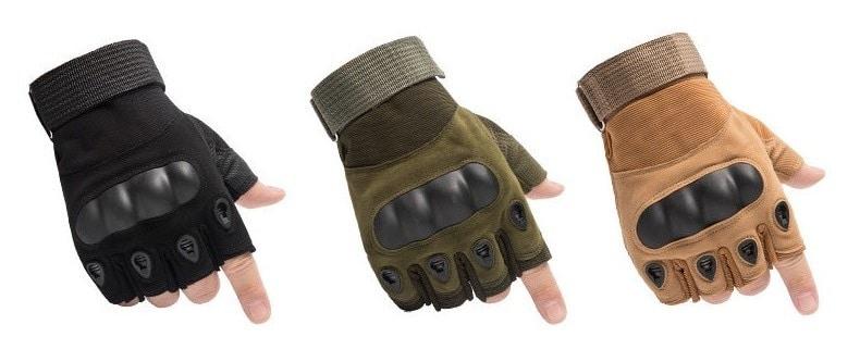 fingerless anti impact tpr glove
