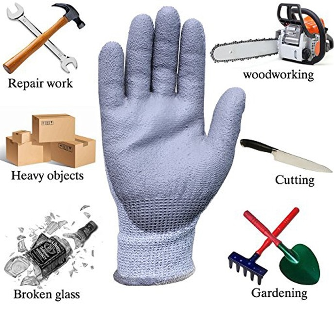 application of cut resistance glove