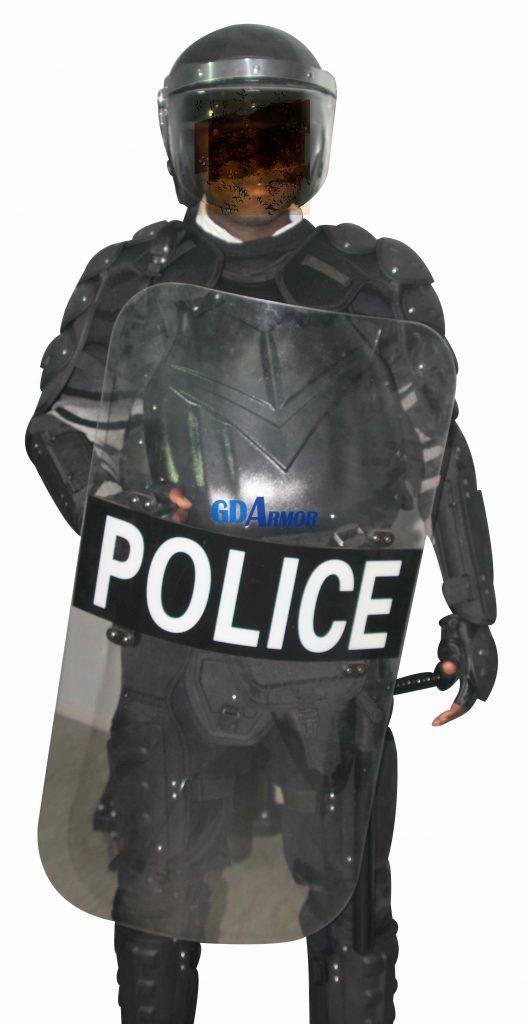 guodun armor anti riot suit and police shield
